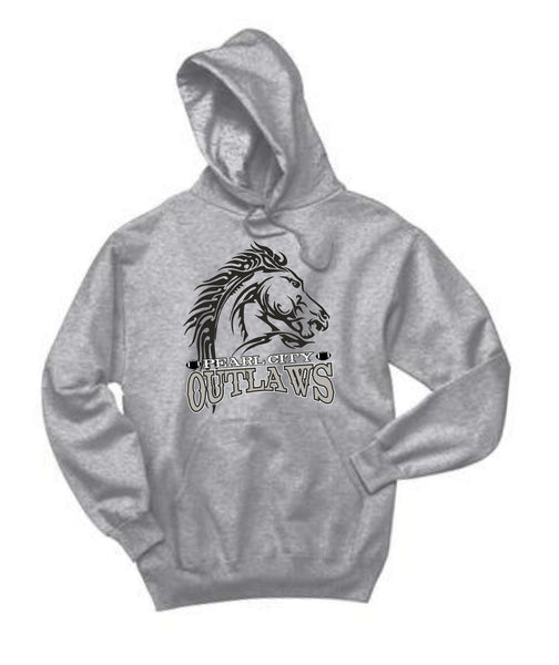 Pearl City Outlaws - Fleece Pullover Hoodie - Ath. Heather