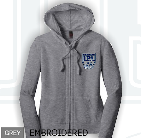 IPA - Girls Junior Jersey Full-zip Hoodie