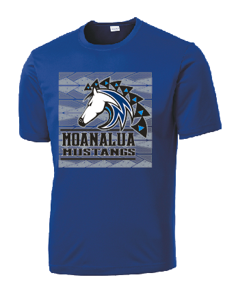 Moanalua Middle School - Dri-Fit Short Sleeve (Royal)