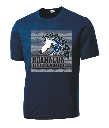 Moanalua Middle School - Dri-Fit Short Sleeve (Navy)