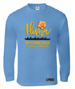 Ilima Intermediate School (7th Grade) Long Sleeve Tee - Carolina Blue