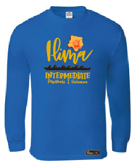 Ilima Intermediate School (8th Grade)  Long Sleeve Tee - Royal Blue