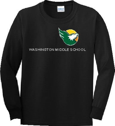 Washington Middle School Long Sleeve Uniform - Black