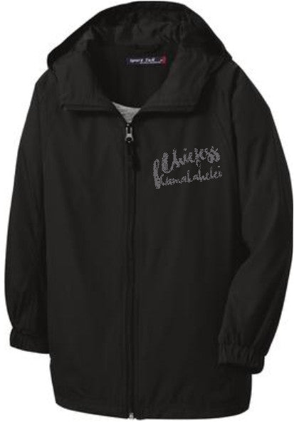 Chiefess Kamakahelei Middle - Black Zip Windbreaker Jacket JST73