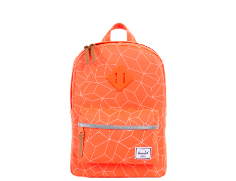 Herschel Supply Company KIDS | HERITAGE BACKPACK Orange w/ REFLECTIVE 3m