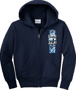 Kaimuki Middle School - Zipper Hoodie - Navy Blue