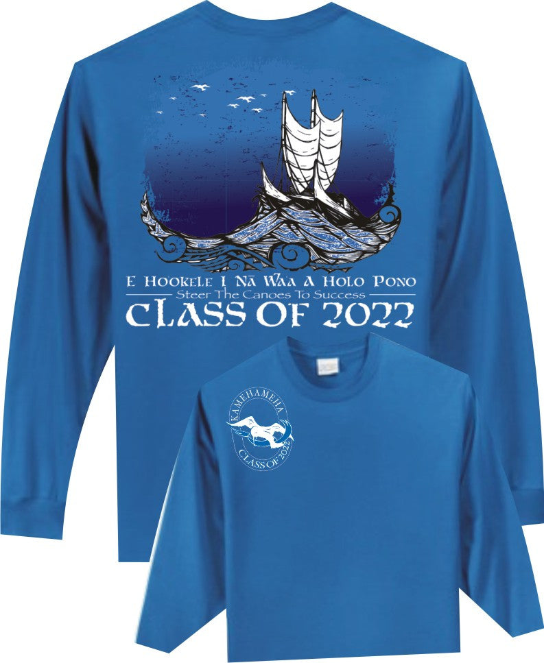 Kamehameha Class of 2022- Unisex Cotton Long Sleeve T-Shirt