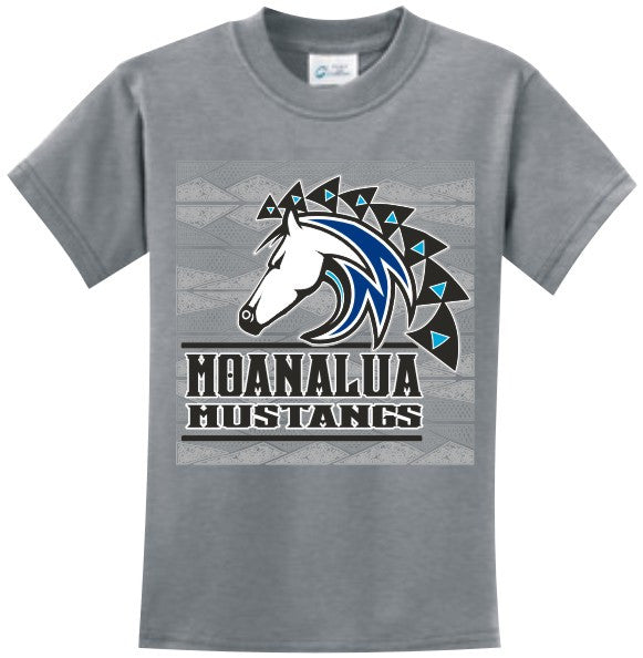 Moanalua Middle School Uniform Short Sleeve (Grey)