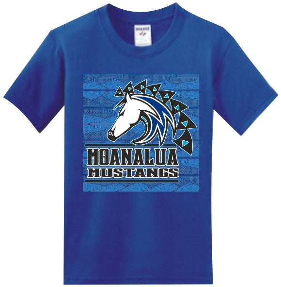 Moanalua Middle School Uniform Short Sleeve ( Royal )