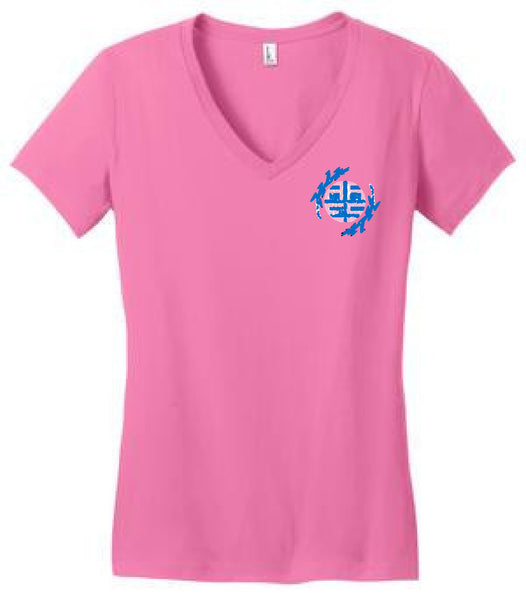 August Ahrens Staff Shirts - District® - Juniors Very Important Tee® V-Neck - DT6501