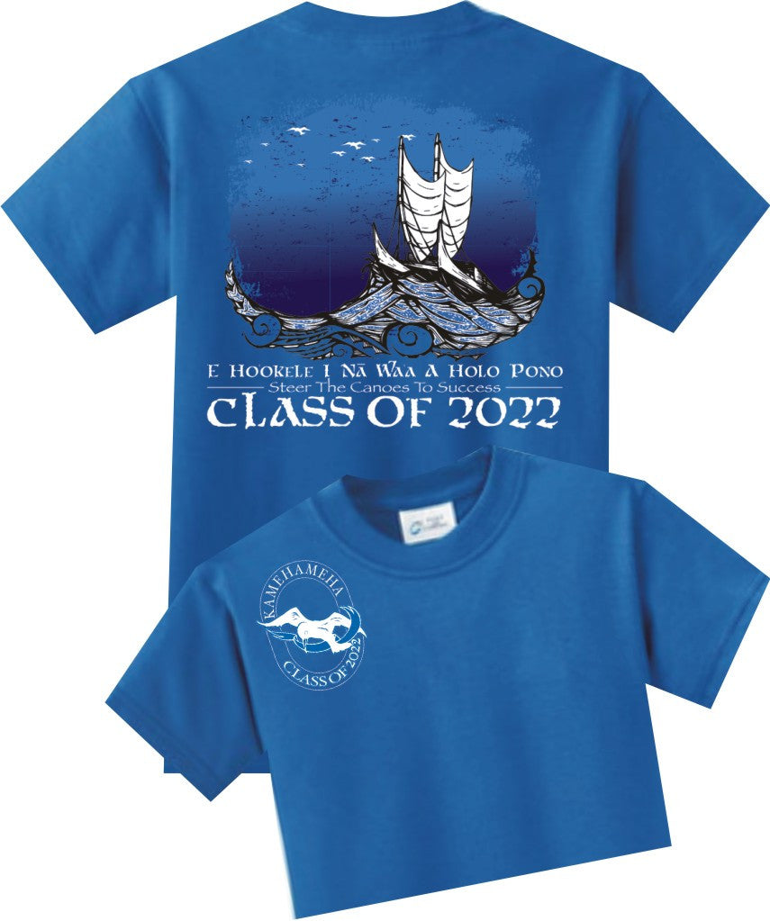 Kamehameha Class of 2022- Unisex Cotton Short Sleeve T-Shirt
