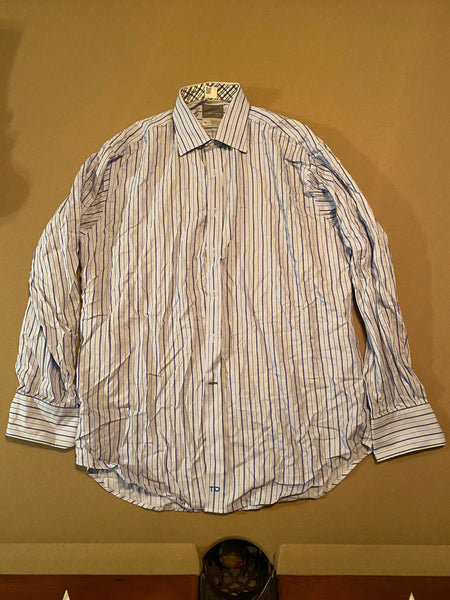 Thomas Dean Long Sleeve Dress Shirt (Tailoring Included)
