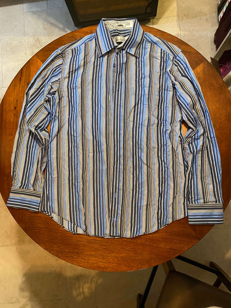 Bugatchi Uomo Long Sleeve Dress Shirt (Tailoring Included)