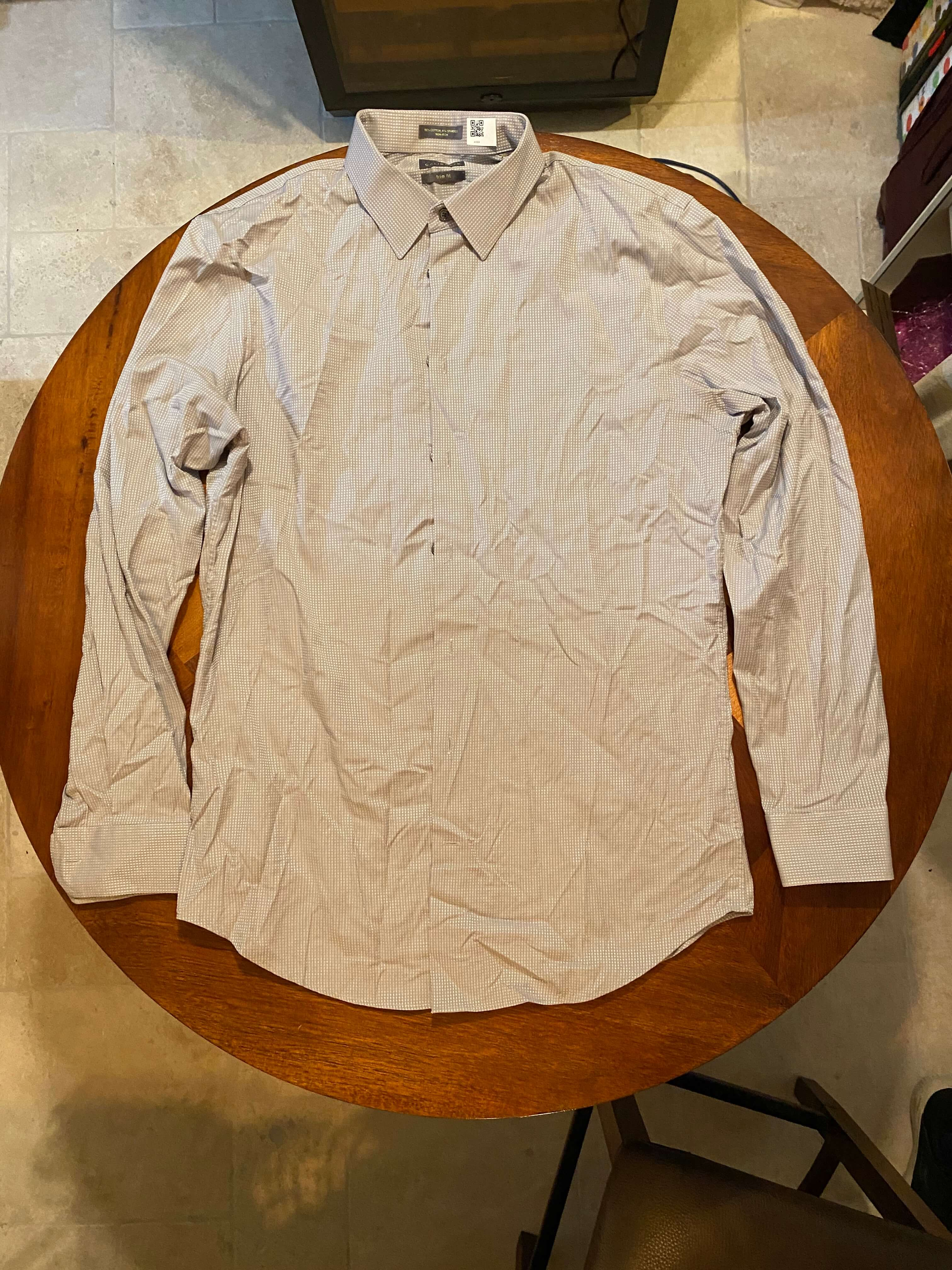 Calibrate Gray Long Sleeve Dress Shirt (Tailoring Included)