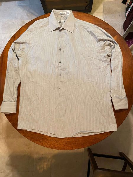 Geoffrey Beene Gray Long Sleeve Dress Shirt (Tailoring Included)