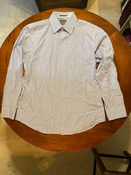 Calibrate Blue Long Sleeve Dress Shirt (Tailoring Included)