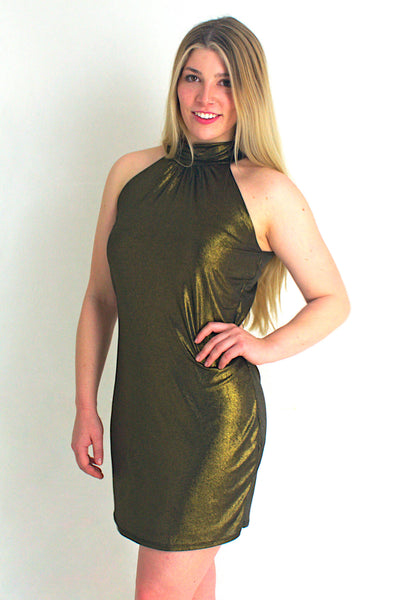 Pose Gold Shimmer Dress - Never Worn (Tailoring Included)