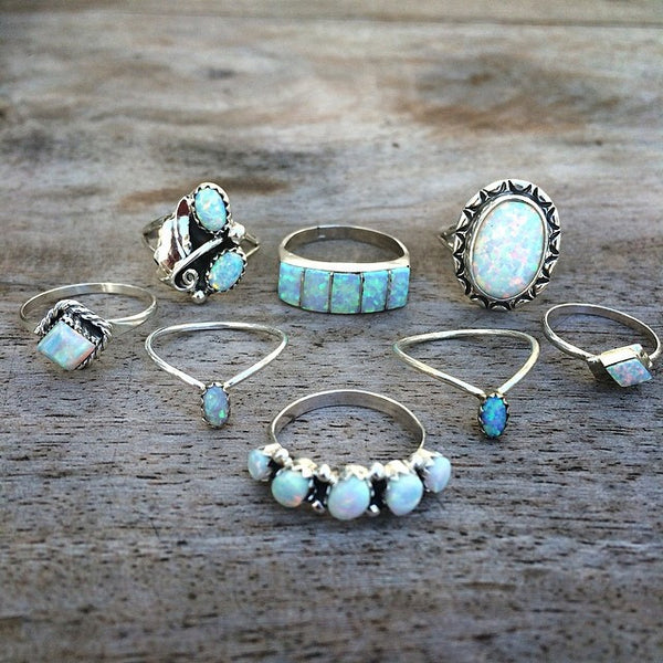 Thunderbird Jewelry dead stock Nacre Navajo Opal Ring
