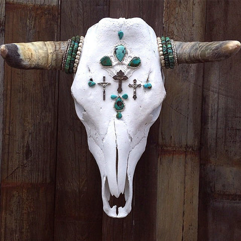 Turquoise Redemptions Cow Skull - Child of Wild  - 1