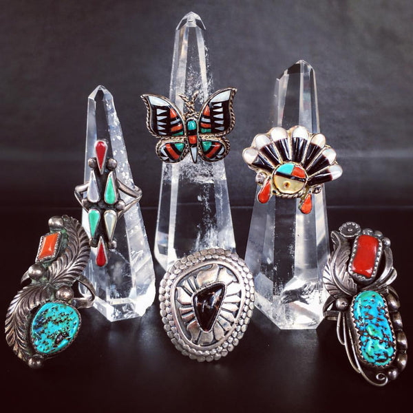 Soaring Eagle Vintage Native American Rings - Child of Wild  - 3