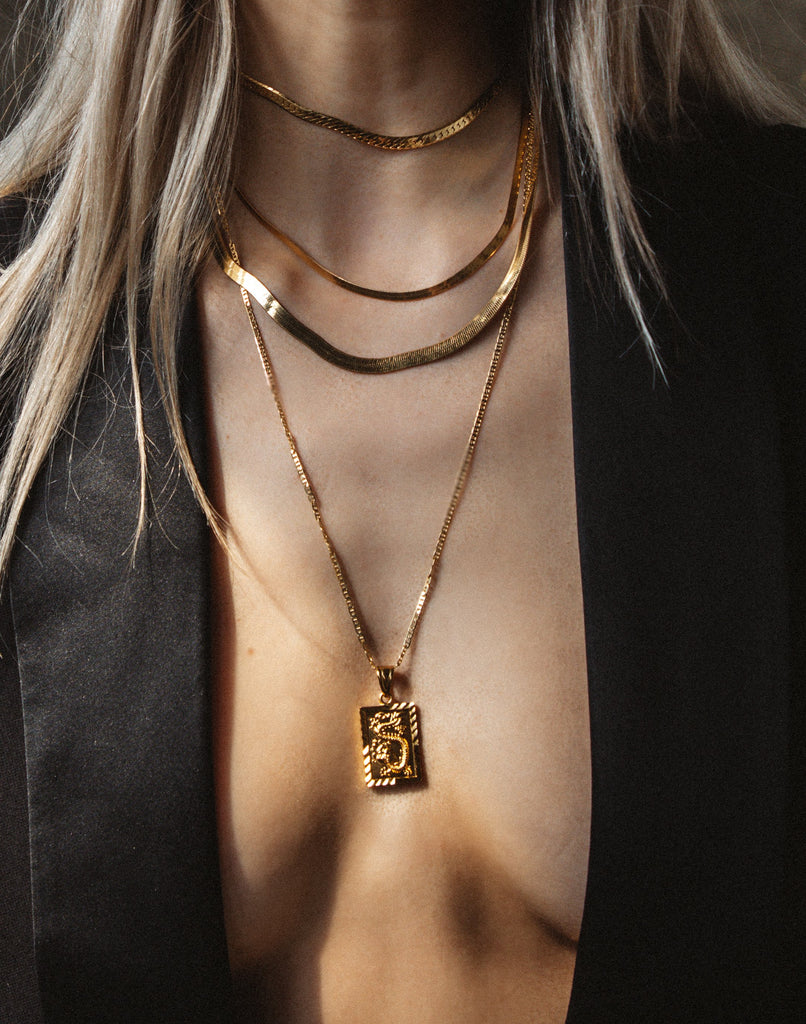 Tresor Jewelry Gold King Snake Necklace