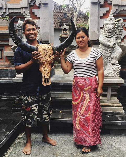 Bali Objects Small Balinese Wooden Skull