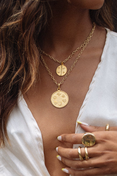 Tresor Jewelry Gold The Talisman Pavè Diamond Necklace