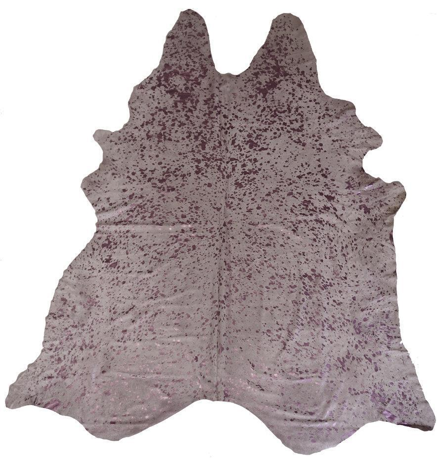 BS Trading Co Objects 7' x 5' / Metallic Pink / FINAL SALE Metallic Silver Cowhide