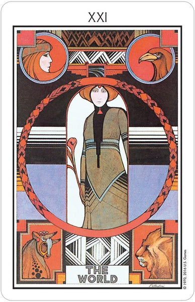 US Games System Objects Black Aquarian Tarot Deck