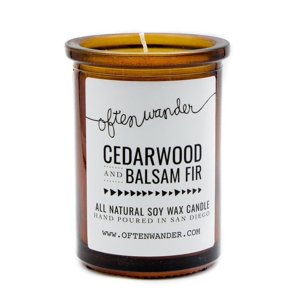 Often Wander Objects 6 oz / Cedarwood + Balsam Fir / FINAL SALE Cedarwood + Balsam Fir Apothecary Candle