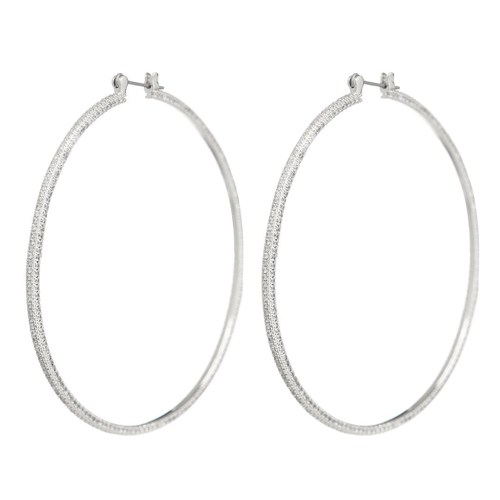 LUV AJ Jewelry Triple Pave Hoops