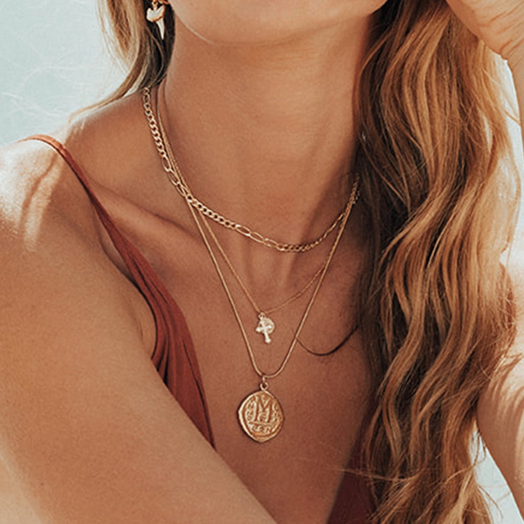 Goddess Jewelry Gold / 18 Inches Cortez Coin Necklace
