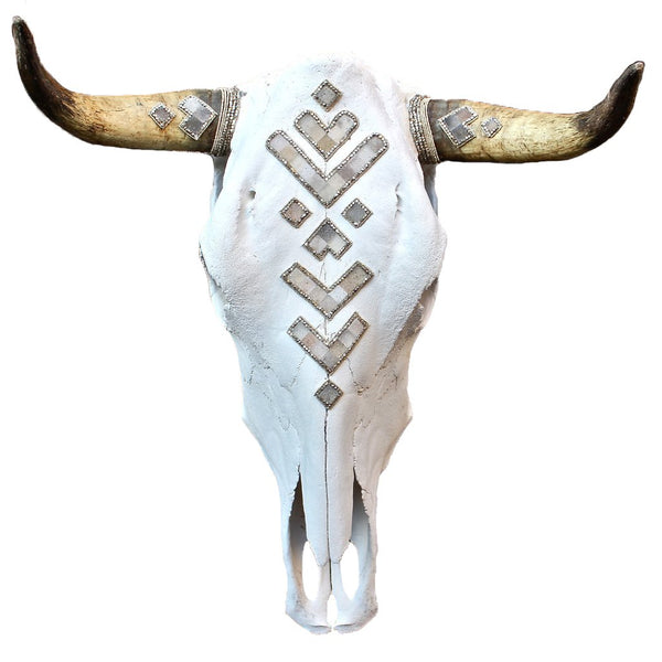 Child of Wild Bones Cow Skull Druzy Tribes Buffalo Skull