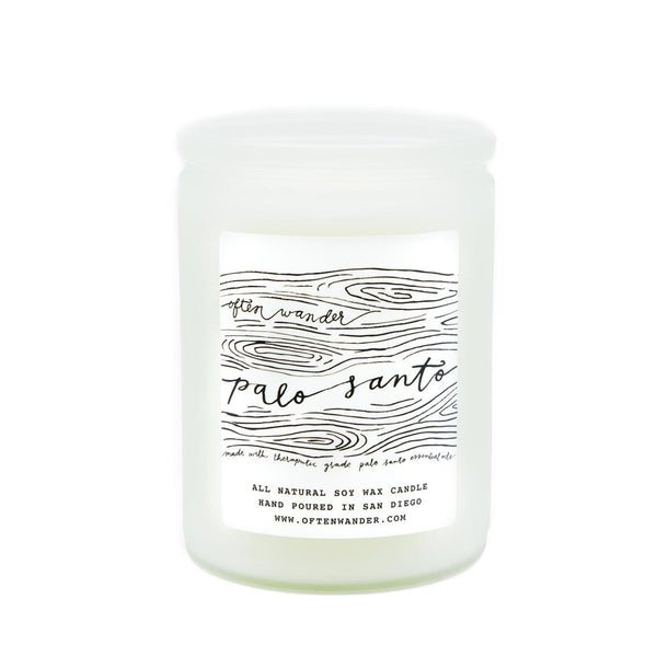 Often Wander Objects 12 oz / Palo Santo / FINAL SALE Palo Santo Apothecary Candle