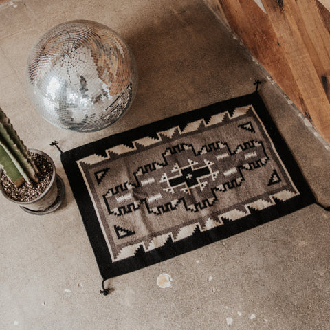 Rugs Objects Black / FINAL SALE Navajo Skies Zapotec Weaving