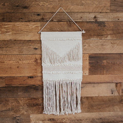 Bloomingville Objects Ivory/Rose Gold Aya Weaving Wall Hanging