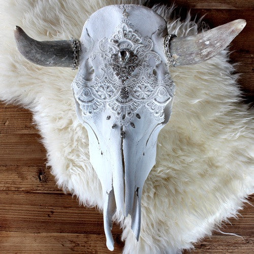 Child of Wild Bones Ethereal Dreams Lace Cow Skull