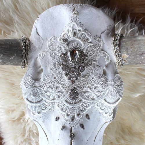 Ethereal Dreams Lace Cow Skull - Child of Wild  - 1