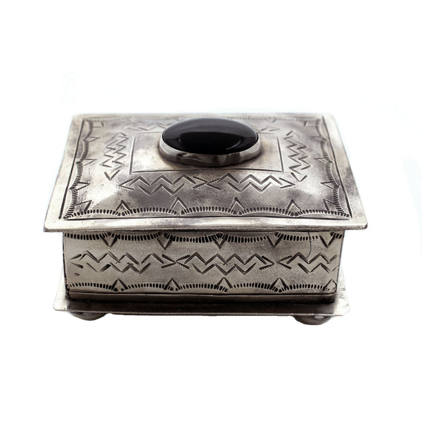 J. Alexander Objects Silver / FINAL SALE Petite Onyx Keepsake Box