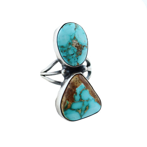 Sunwest Jewelry US 5.5 / Turquoise Night Warrior Native American Ring
