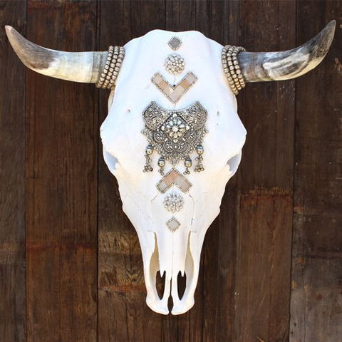 Lovesick Druzy Cow Skull - Child of Wild  - 1