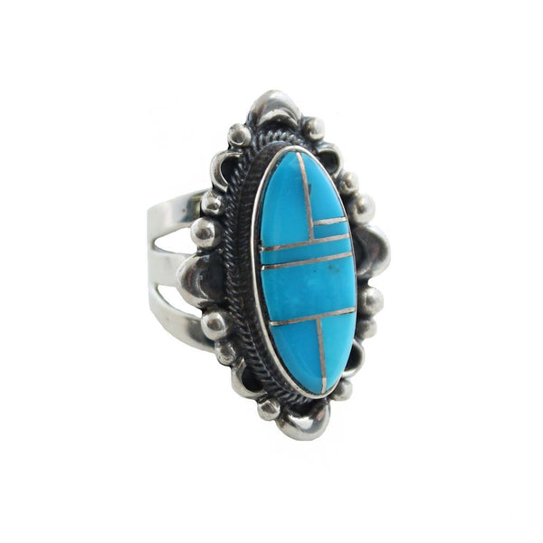 Sunwest Jewelry US 7 / Turquoise Sweet Summer Inlay Ring