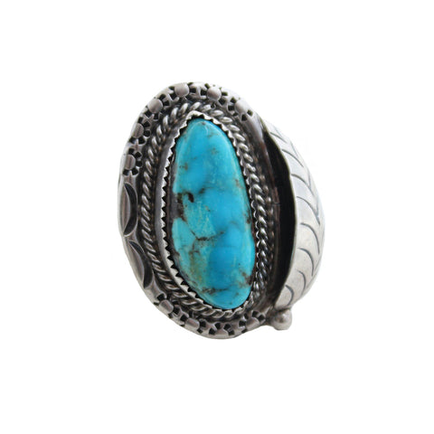 Child of Wild Jewelry US 6 / Turquoise Buffalo Creek Vintage Native American Ring