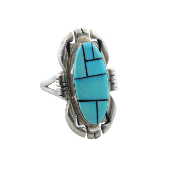 Child of Wild Jewelry Turquoise / US 7.5 Cahua Zuni Ring