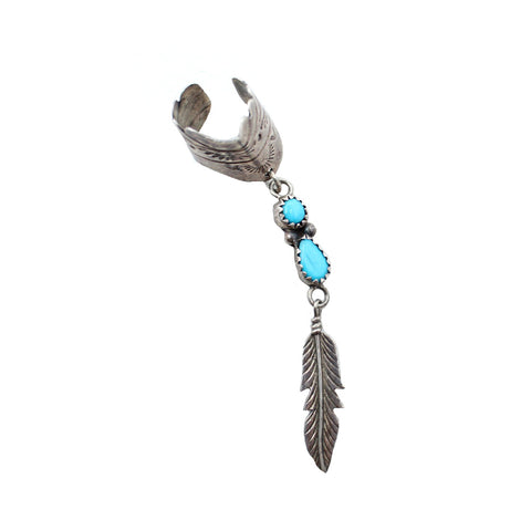 Dreaming Feathers Vintage Cuff Earring