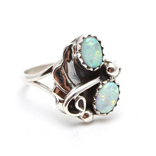 Thunderbird Jewelry dead stock Opal / US 8 Nacre Navajo Opal Ring