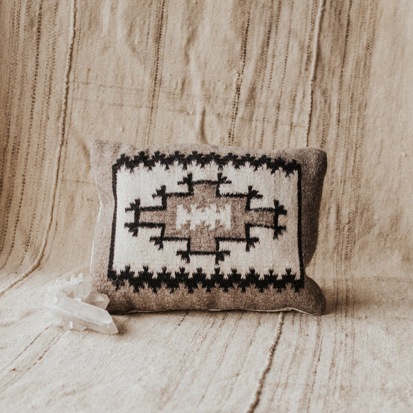 Zapotec Objects Grey / FINAL SALE Zapotec Small Pillow