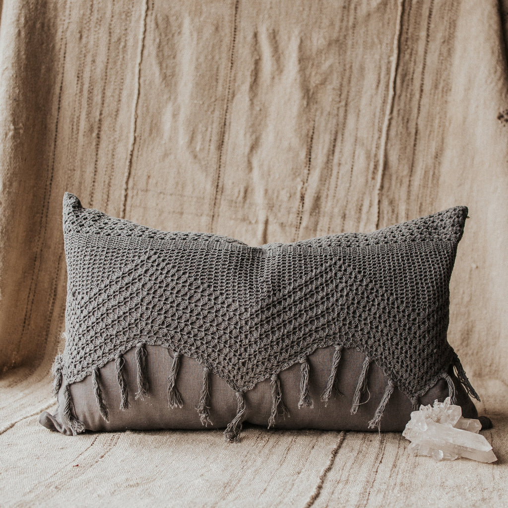 Heirloom Objects Berber / FINAL SALE Crochet Pillow