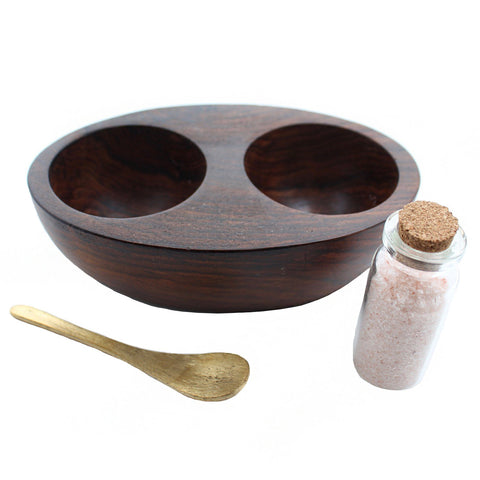 Roost Objects Wood / FINAL SALE Salt & Pepper Cellar with Spoons