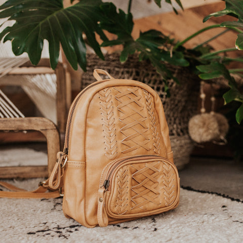Bali Objects Tan / FINAL SALE Kali Bali Backpack